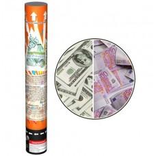 """Пневмохлопушка Пневмохлопушка """"MONEY"""" (USD, Euro """"ден. купюры"""") 30см (1 шт)"""